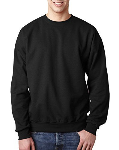 Hanes ComfortBlend Long Sleeve Fleece Crew - p160 (Black / Small)