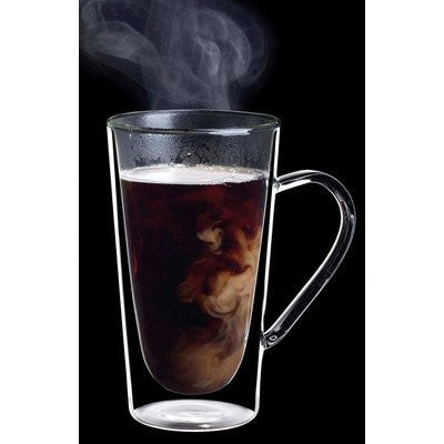 Luigi Bormioli Set of 2 Duos Double-Wall Mugs, 14 oz.