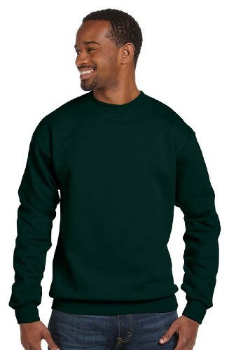 Hanes ComfortBlend Long Sleeve Fleece Crew - p160 (Deep Forest / Large)