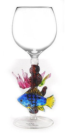 Wine glass /Coral reef fish