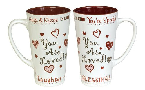 Abbey Press You Are Loved Coffee Mug - Inspiration Faith Blessing Spirit 47069C-ABBEY
