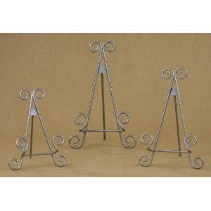"9"" Silver Finish Easel"