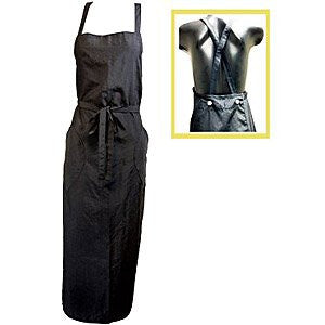 "H3000 CAPE & APRON COLLECTION - SALON APRON, 42"" long - Black"