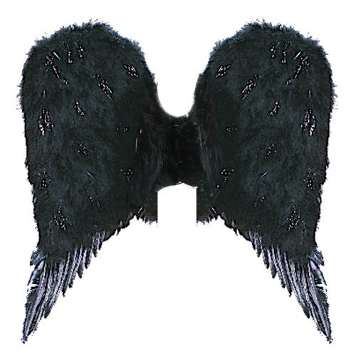 Adult Feather Angel Wings PBI BLACK