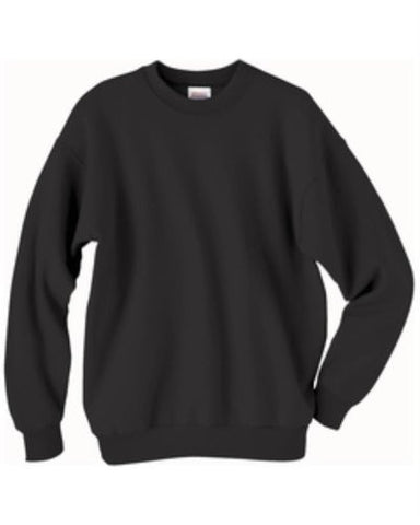 Hanes ComfortBlend Long Sleeve Fleece Crew - p160 (Black / Medium)