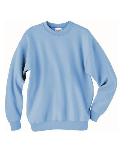 Hanes ComfortBlend Long Sleeve Fleece Crew - p160 (Light Blue / Small)