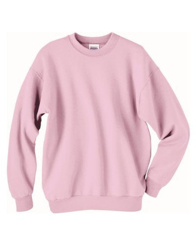 Hanes ComfortBlend Long Sleeve Fleece Crew - p160 (Pale Pink / Small)