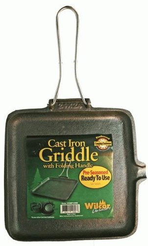 Cast Iron Griddle With Handle  9.5""