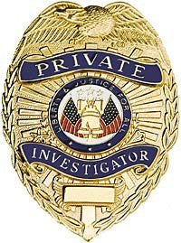 Private Investigator - Breast Badge - Gold