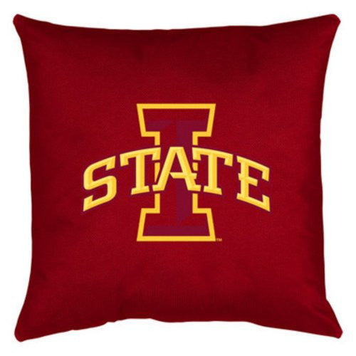 LOCKER ROOM PILLOW Iowa St Cyclones  - Color Bright Red - 18x18