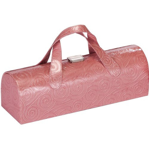 Carlotta Clutch Wine Bottle Tote (Color: Rose Swirl)