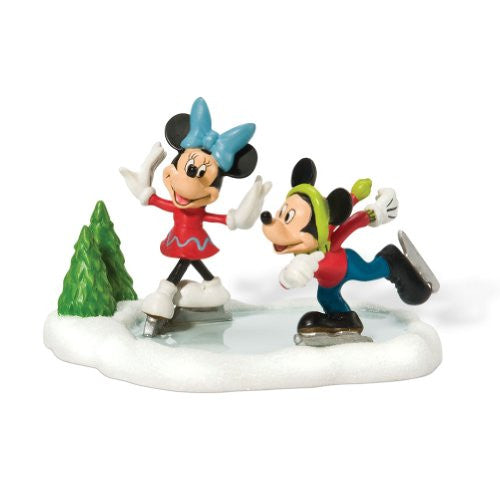 Department 56 Mickey & Minnie Go Skating