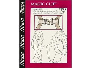 Braza Strap Accessories Magic Clip C & D Cup Clear (2 Pack)
