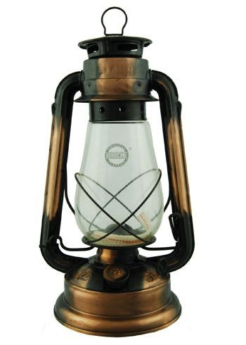 "Hurricane Oil Lantern 12"" Bronze Plated"