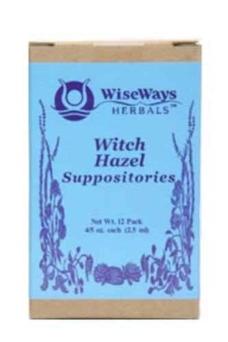 Witch Hazel Suppositories, 12 count
