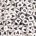 Alphabet Beads Letter A (Pack of 50)