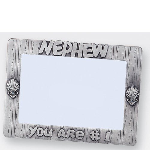 "6""x4"" Pewter Frame - Nephew, you are #1"