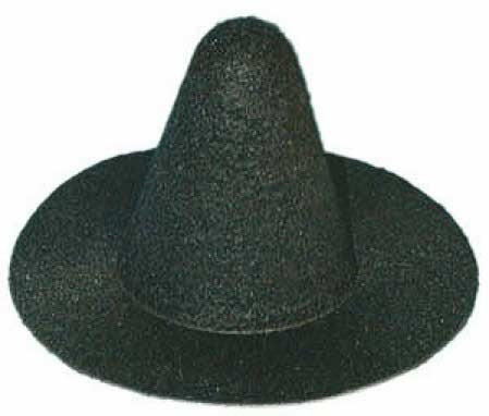 Witch Hat - Felt - Black - 6 inches