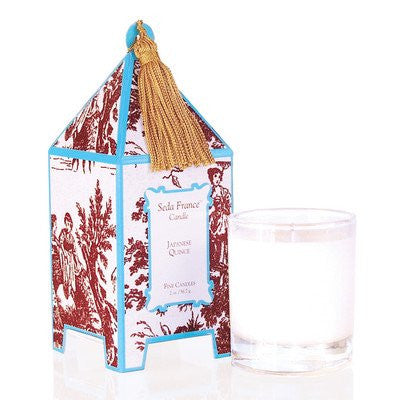 Classic Toile Mini Pagoda Candle- Japanese Quince