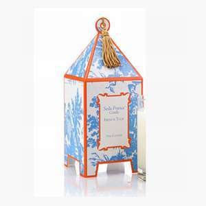 Classic Toile Mini Pagoda Candle- French Tulip
