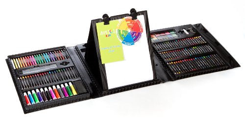 179Pc Double Sided Trifold Easel Art Set