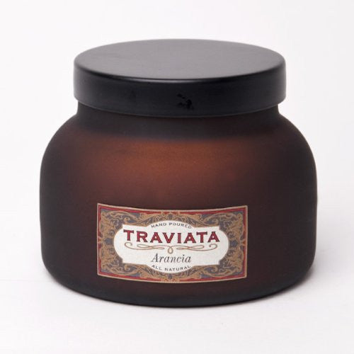 Traviata Collection 20 oz Red Frosted Jar- Traviata