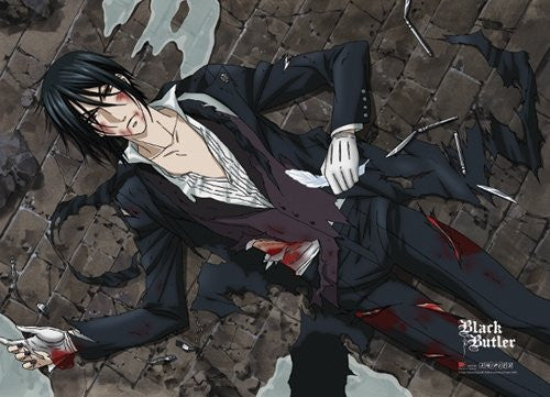 Black Butler Wounded Butler Wall Scroll