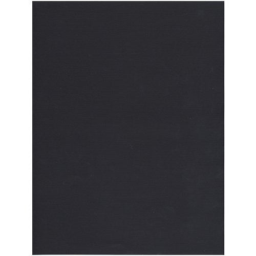 "Jam® 8 1/2"" x 11"" Linen Paper, Black, 50 Sheets/Pack"