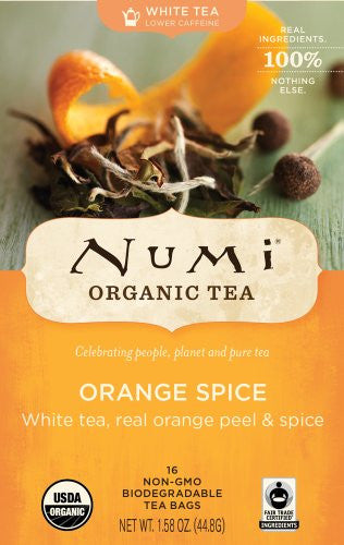 Numi® Organic Orange Spice White Tea, 16/Bx