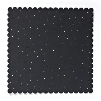 Embellish Your Story Black with White Dots Magnetic Memo Board