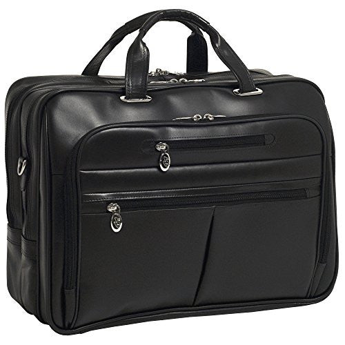 "ROCKFORD Leather Fly‐Through™ Checkpoint‐Friendly 17"" Laptop Case Black"