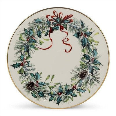 WINTER GREET BUTTER PLATE