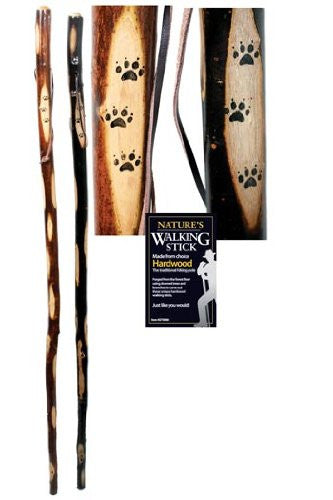 Walking Stick Wood With Strap 54""