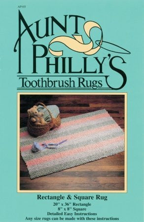 Aunt Philly's Toothbrush Rugs Rectangle/Square Rug