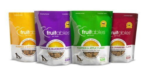 Fruitables Pumpkin and Banana - 7 oz. Bags Fruitables Pumpkin and Blueberry - 7 oz. Bags Fruitables Pumpkin and Apple - 7 oz. Bags Fruitables Pumpkin and Cranberry - 7 oz. Bags