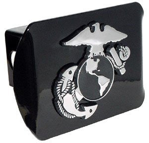 Marine Corps (Insignia) Black Hitch Cover