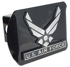 Air Force (Wings) Black Hitch Cover