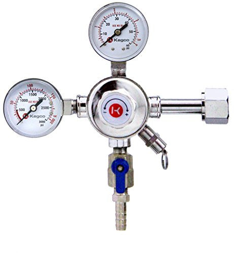 Kegco 542-Premium Pro Series Commercial Grade Dual Gauge Co2 Keg Beer Kegerator Regulator