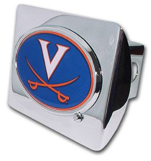 Virginia (with color) Shiny Chrome Hitch Cover