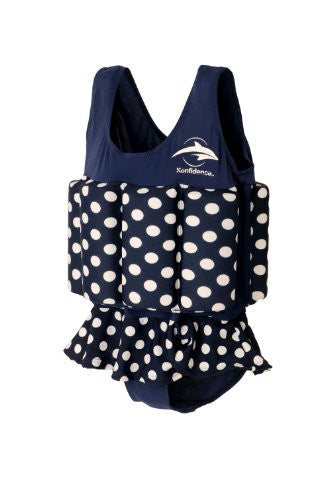 Floatsuits - 1-2 years Navy Polka Dot