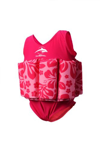 Floatsuits - 4-5 years Pink Hibiscus