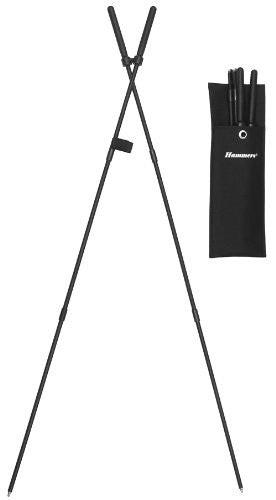 "Quick Release Bungee-Corded Shooting Bipod. 39"" Extended. 14"" Folded"
