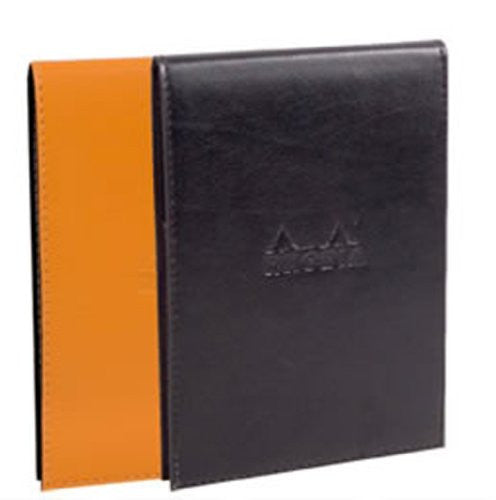 Rhodia Pad Holder Black with Orange Graph Pad, 6 x 8 ¾