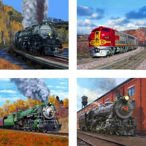 "Trains 4.25"" Set of 4"