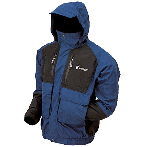 Frogg Toggs Men's Firebelly 2-Tone Jacket (Dust Blue/Black / Small)