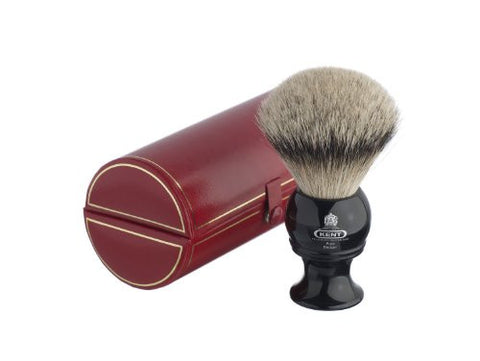 Kent BLK12 Traditional King-Sized Pure Silver Tip Badger Shaving Brush