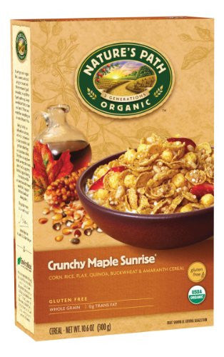 Nature's Path Cereals Crunchy Maple Sunrise At least 95% Organic (10.6 oz.)