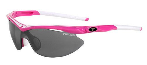 Tifosi Women's Slip Shield Sunglasses (Neon Pink/Smoke-AC Red-Clear / One Size)
