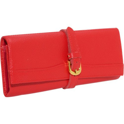 Leather Jewlery Roll, Red