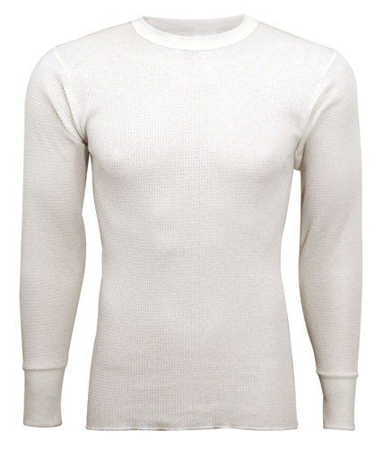 Indera - Mens Regular and Tall Long Sleeve Thermal Top, 800LS (Natural / Large)